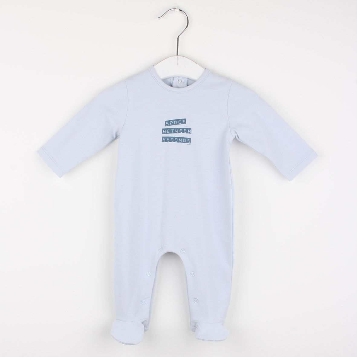 Babygrow print space between seconds