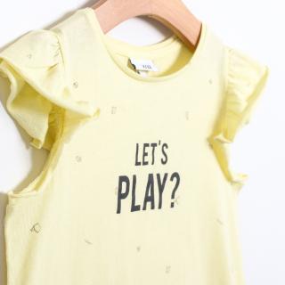 "T-shirt short sleeve girl Let""s Play 5609232189160"