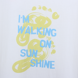 T-shirt walking on sunshine Adulto 5609232095911