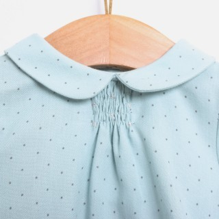 Blouse baby cotton Ether Blue Dots 5609232123898