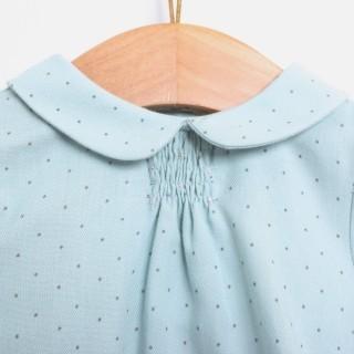 Blusa bebé algodão Ether Blue Dots 5609232123898