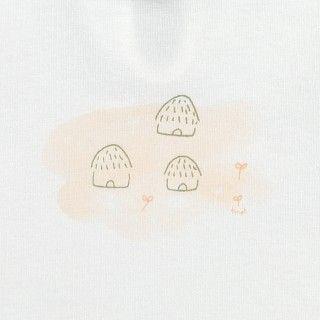 T-shirt manga curta bebé Casinhas 5609232213551