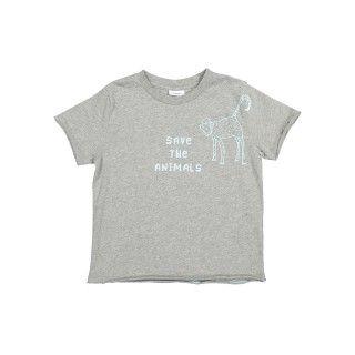 T-shirt manga curta menino Save the Animals 5609232222621
