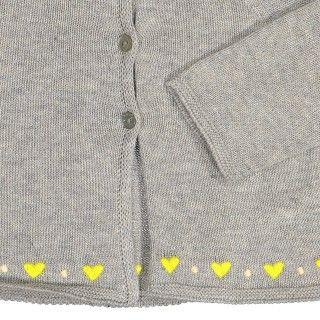 Coat baby tricot Corações 5609232306703