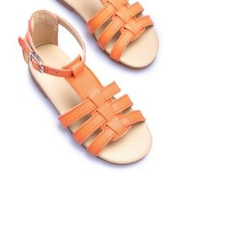 Leather Sandals with elastic 5609232251164