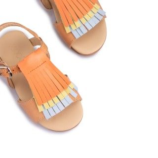 Leather Sandals with crossed details 5609232250921