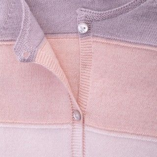 Cardigan baby knitted Echo Rose 5609232265710