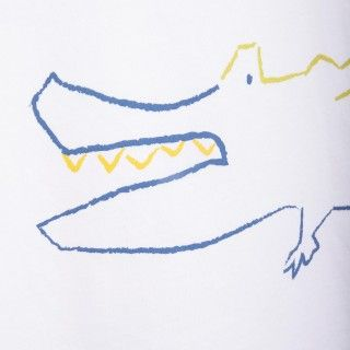 T-shirt manga curta menino algodão Crocodilo 5609232328392