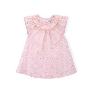 Vestido bebé algodão orgânico Flowers 5609232311554