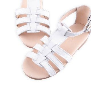 Leather Sandals with elastic 5609232402788