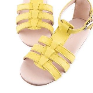 Leather Sandals with elastic 5609232402887