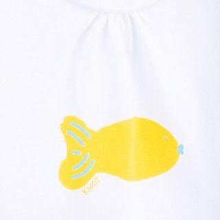T-shirt manga curta bebé algodão Peixe 5609232344453