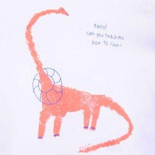 T-shirt manga curta bebé algodão Dinossauro 5609232344057