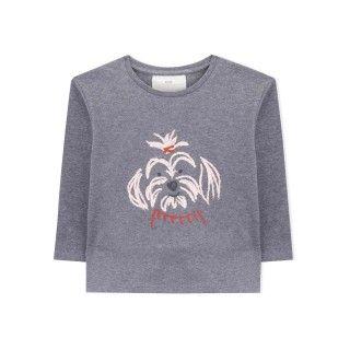 T-shirt manga comprida menina algodão orgânico Nutmeg 5609232384848