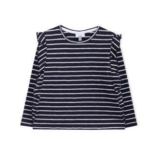 T-shirt manga comprida menina algodão orgânico Sakiko 5609232384459