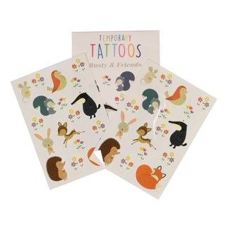 Rusty & Friends Temporary Tattoos (2 Sheets) 5609232458457