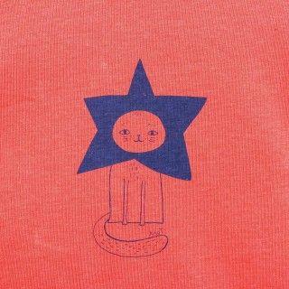 T-shirt manga comprida menina algodão Gato Estrela 5609232465783