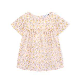 Blouse organic cotton Flowers 5609232422502