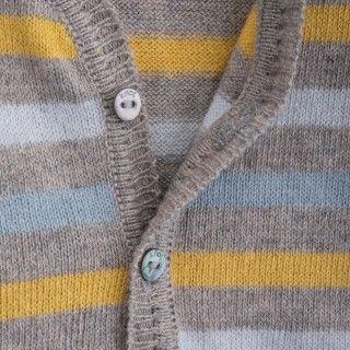 Casaco bebé tricot Evolution Stripes 5609232450475