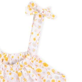 Macacão menina algodão orgânico Groovy Flowers 5609232423400