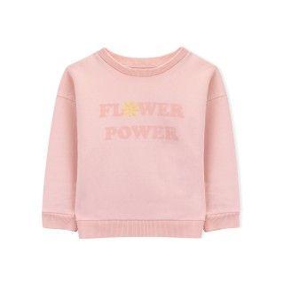 Girl sweatshirt organic cotton Flower Power 5609232412947