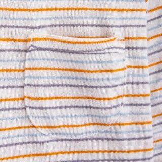 T-shirt manga comprida bebé algodão orgânico Pequeno bolso 5609232421222