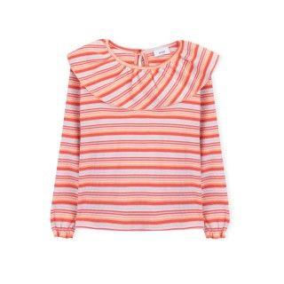T-shirt manga comprida menina algodão Farrah Fawcett 5609232425541