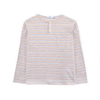 T-shirt manga comprida menino algodão orgânico Bolso 5609232424452