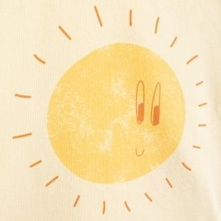 T-shirt manga curta bebé algodão orgânico Sol feliz 5609232424919