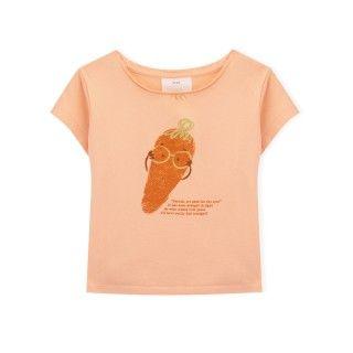 T-shirt manga curta menina algodão orgânico Mrs. Carrott 5609232425688