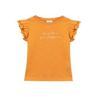 T-shirt manga curta menina algodão orgânico Recreio 5609232413586