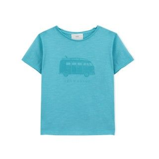 Boy short sleeve t-shirt organic cotton Pão-de-forma 5609232428108