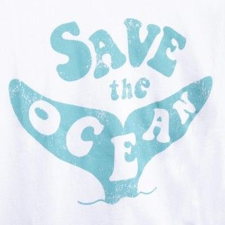Boy short sleeve t-shirt organic cotton Save the ocean 5609232425893
