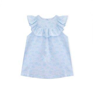 Vestido bebé algodão orgânico Turtles 5609232412251