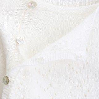 Camisola recém-nascido tricot Ajours 5609232457061