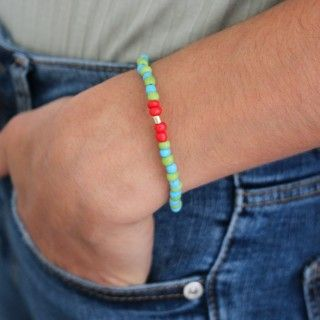 Bracelet with colored beads 5609232512401