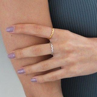 Silver leaf ring 5609232519370