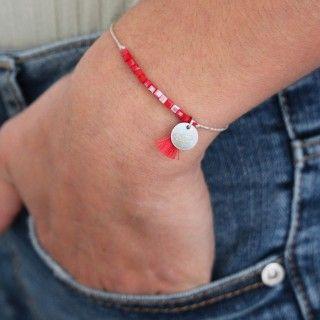 Beaded and pompom bracelet 5609232519479