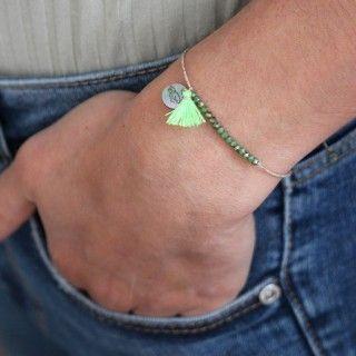 Beaded and pompom bracelet 5609232519486