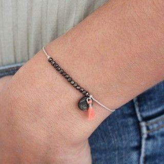 Beaded and pompom bracelet 5609232519509