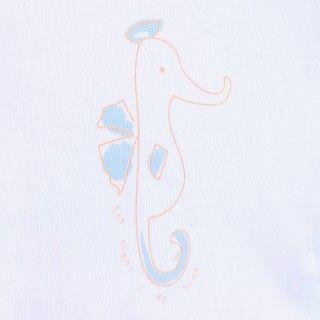 T-shirt manga curta bebé algodão Cavalo marinho 5609232457559