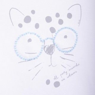 T-shirt short sleeve girl Party Leopard 5609232573969