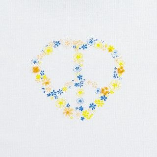 T-shirt short sleeve girl Peace Flowers 5609232574492