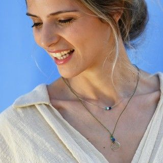 Waxed necklace Shades of Ocean 5609232558690