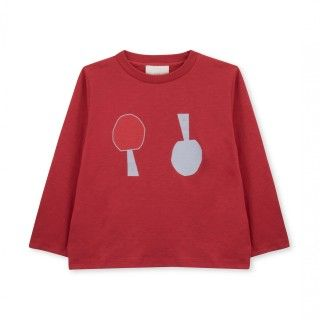 T-shirt manga comprida menino algodão orgânico Upside Down 5609232491096