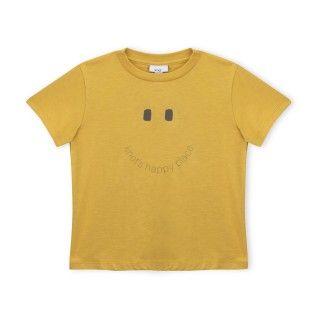 T-shirt manga curta menino algodão orgânico Happy Place 5609232491331