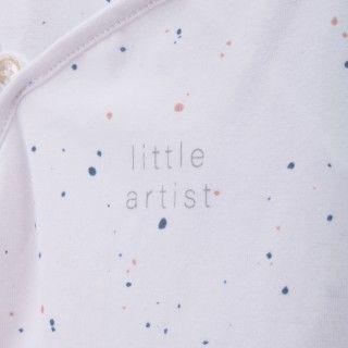 Babygrow recém-nascido algodão orgânico Little Artist 5609232510353