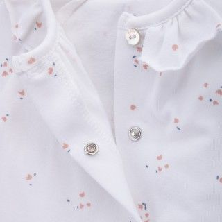 Babygrow newborn organic cotton Frill Flower 5609232500514