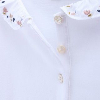 Baby polo organic cotton Flowers 5609232490303