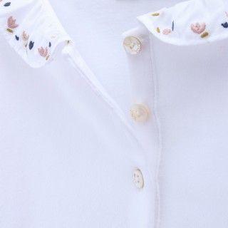 Pólo menina algodão orgânico Flowers 5609232490396